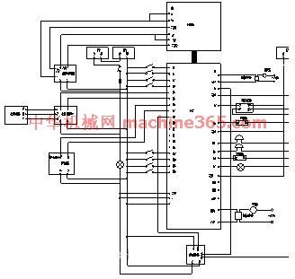 通电延时8秒断电延时10秒的plc控制电路图