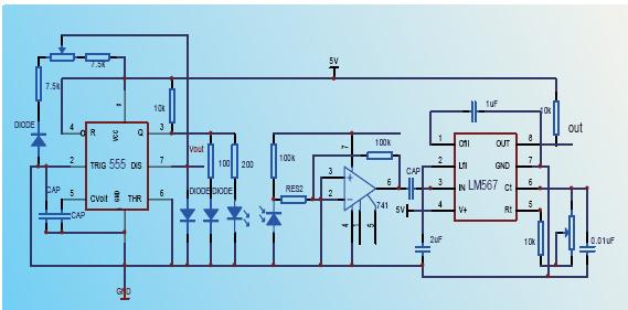 液面检测模块电路图