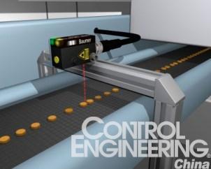 图2使用激光传感器传送带上的小型元器件进行可靠检测