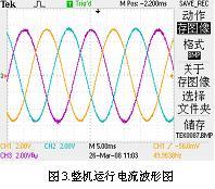 整机运行电流波形图