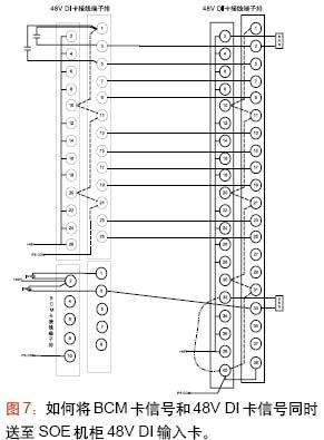 将bcm卡的2通道(左)接线接至设计为48v di接线方式的48v di输入卡