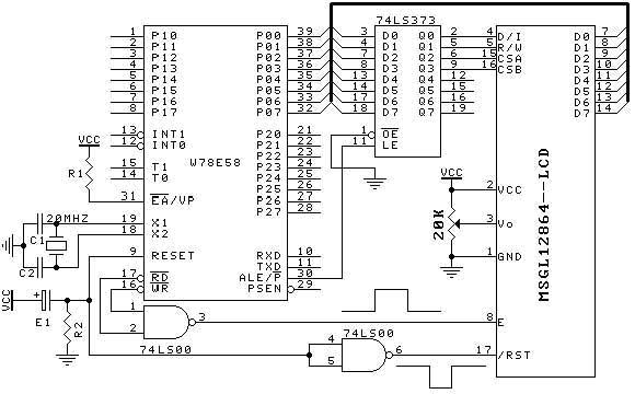 lcd12864接口】  求lcd12864与51单片机接口电路及参考 594x506 - 3