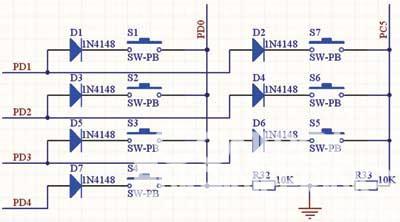 led数码管可以显示当前车内温度,系统预设温度,输入电压等,当蜂鸣器