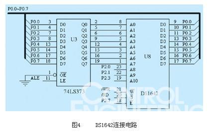 图4 ds1642连接电路