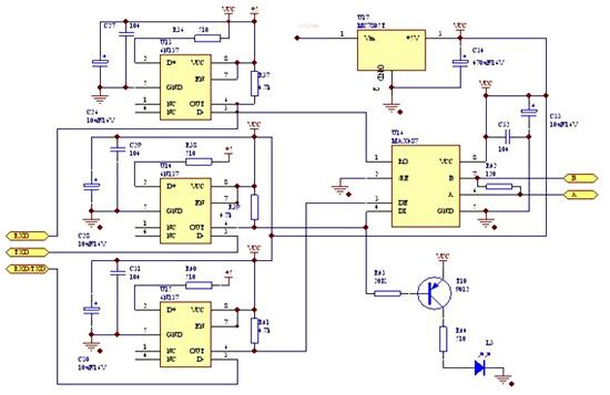 采集器接线图和原理图