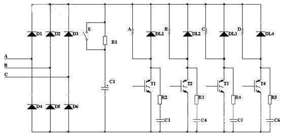 多路电机顺序起停接线图