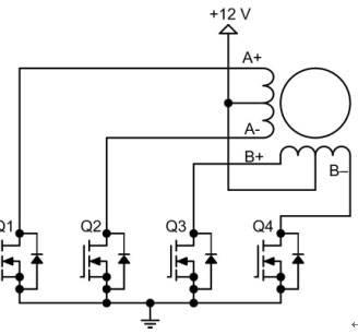 单极性步进电机驱动电路