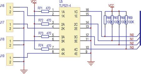 设计的模拟量采集电路中所示,模拟信号可以直接送到atmega128