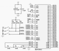 基于MSP430的血糖仪设计如图