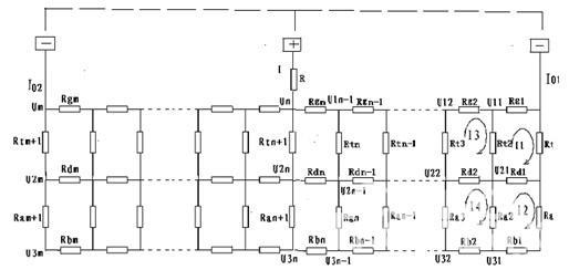 主副排流地铁牵引供电系统离散化模型