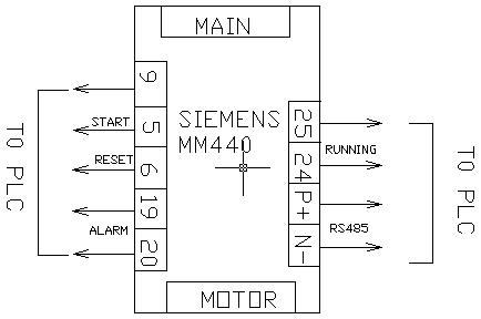 接线图纸,参照西门子mm440变频器和丹佛斯vlt5000