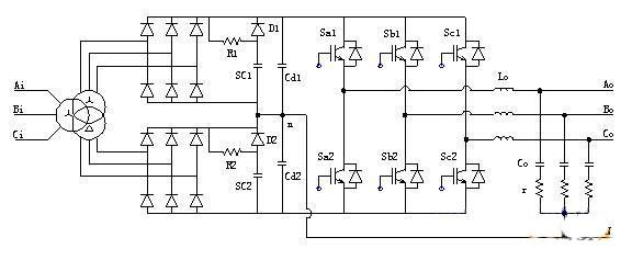 配置超级电容的asd主电路结构图