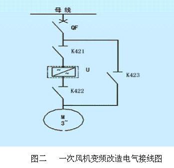 一机一变频器的应用形式(其一次电气接线